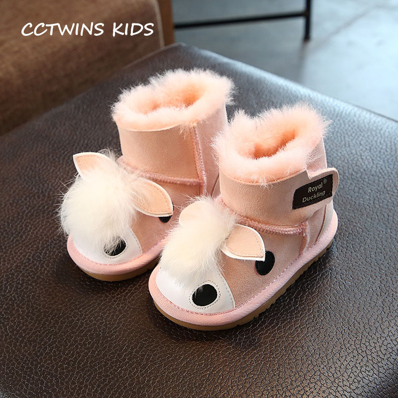 CCTWINS KIDS 2018 Sheepskin Winter Baby Boy Mid Calf Boot Children Fashion Warm Shoe Toddler Brand Snow Boot Girl CS1585 cctwins kids 2018 autumn children rhinestone shoe baby girl brand mid calf boot toddler fashion black boot cf1500