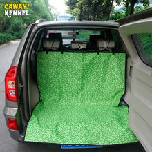 CAWAYI KENNELOxford Waterproof Printing Pet Car Mat Dog Car Trunk Seat Cover Protector Care Dog Cat Transport Perro Cat Carrier