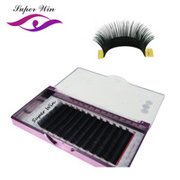 SuperWin 16rows/case 18mm 20mm 19mm premium natural synthetic mink individual eyelash extension makeup cilia professional
