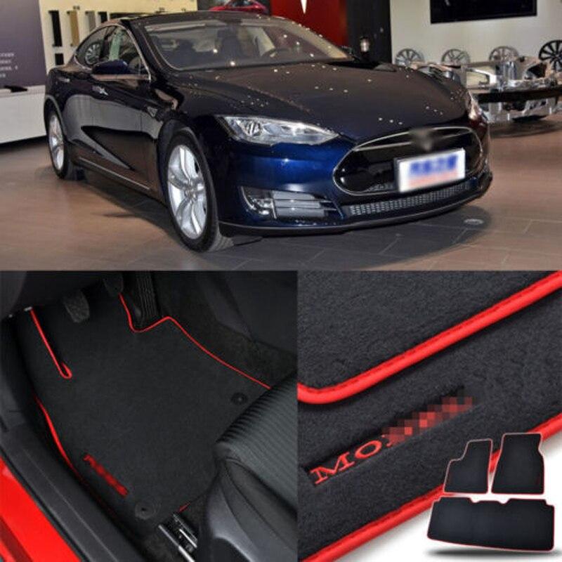 Custom Made 1/2 Épaisseur Solide Nylon Intérieur Inodore Tapis De Sol Tapis Couverture Équipée Pour Tesla Model S 60 2014 -2018
