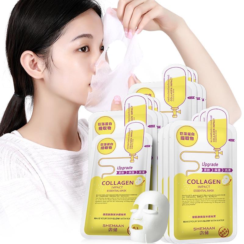 20PCS/lot Face Masks Hyaluronic Acid Facial Mask Skin Care Face Mask Remove Blackheads Hydrating Moisturizing Mask Korean