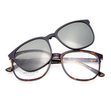 5f861f081043 BAONONG Ultralight TR90 Women Glasses Frame With Magnetic Polarized Clip On  Sunshades Dual Purpose Optical Spectacles Frame 1615