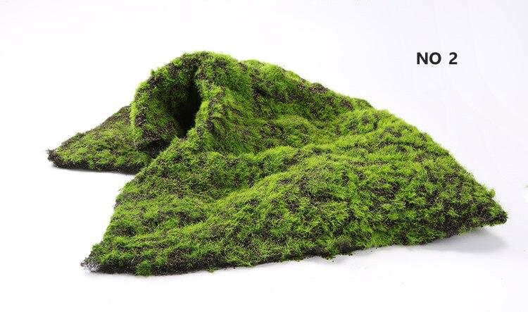 No 2 Mousse Artificielle Gazon Décoration Murale Végétale Micro Paysage D'herbe bricolage Maison Outils Décoratifs Plantes De Simulation Mousse 1 M * 1 M