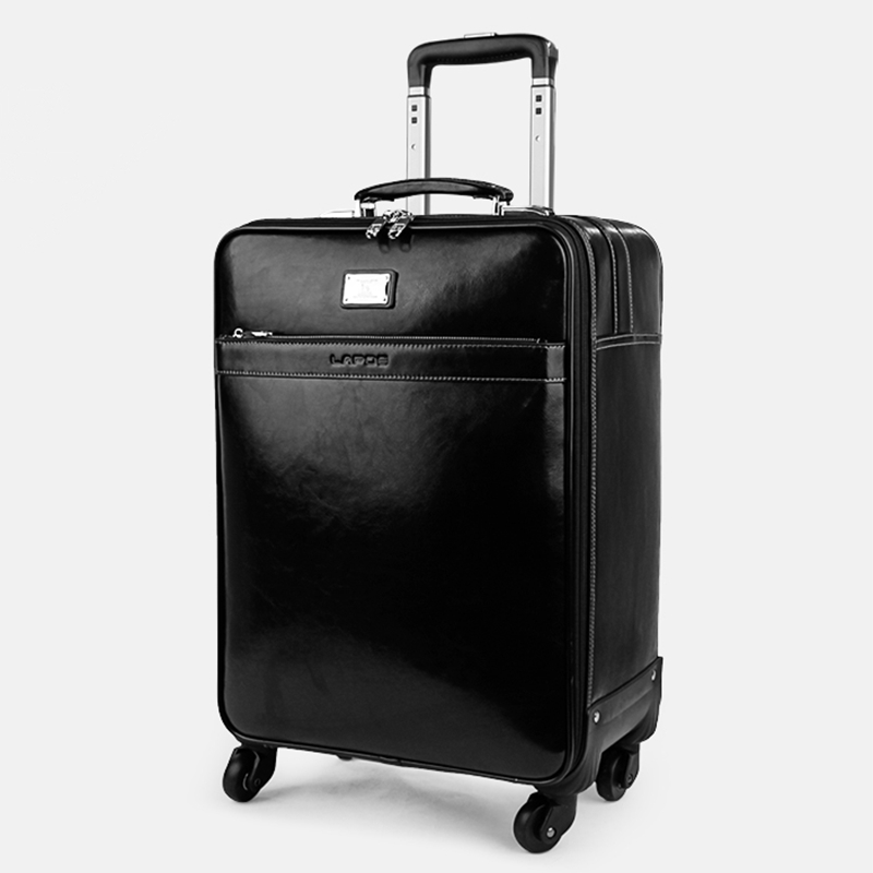 First layer of cowhide commercial universal wheels trolley luggage 16 18 20 22 luggage travel bag luggage bag suitcase,style bag