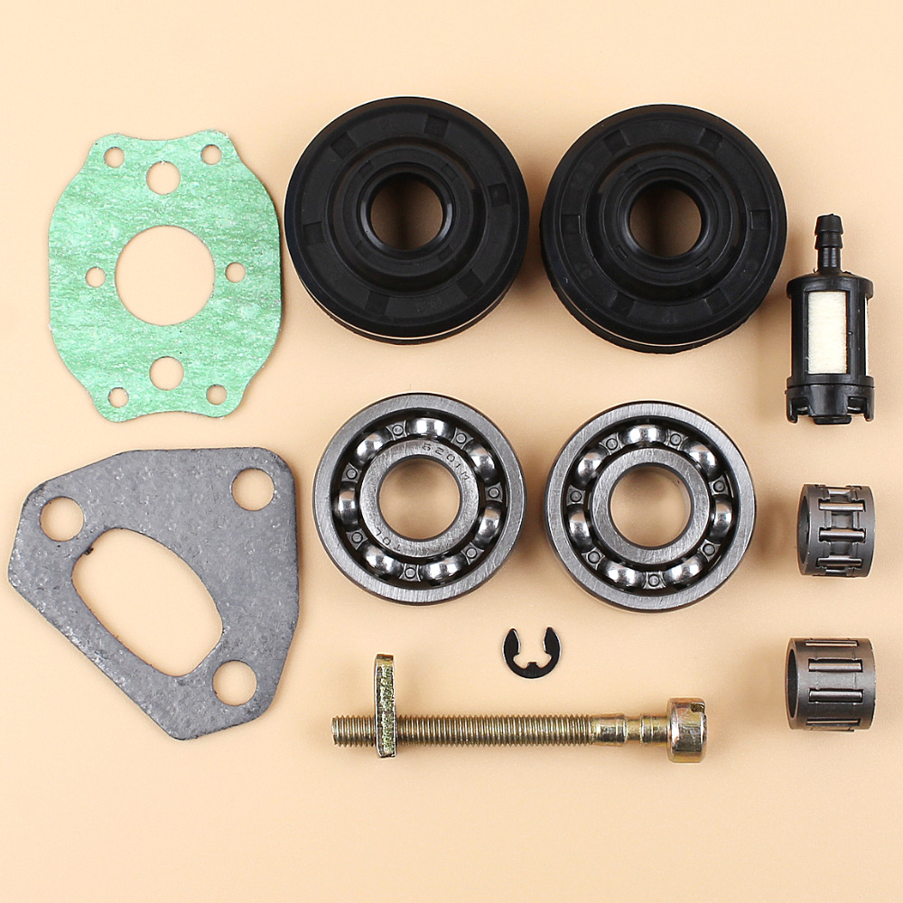 Crankshaft Bearing Oil Seal Chain Tensioner Adjuster Kit For HUSQVARNA 136 137 141 142 36 41 Chainsaw Parts 530 05 63-63