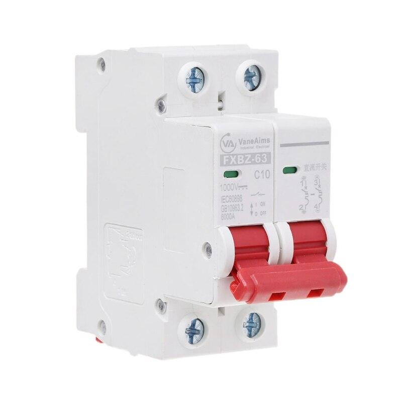 Leistungsschalter Heimwerker 2 P Dc 1000 V Solar Mini Circuit Breaker 10a/16a/32a/50a/63a Dc Photovoltaik Mcb