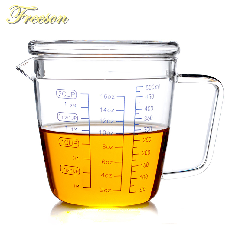 250/500ml Glass Measuring Cup Milk Jug Heat Resistant Glass Cup Measure Jug Creamer Scale Cup Tea Coffee Pitcher Microwave Safe
