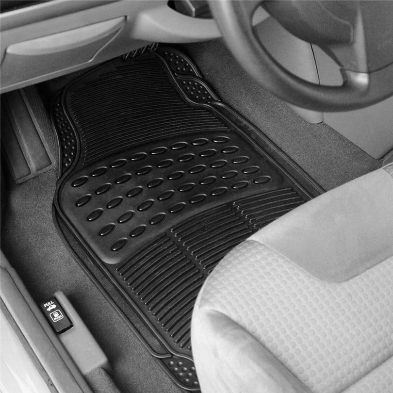 CARGOOL 4PCS Car Floor Mats Ridged Rubber Auto Floor Mat Non-slip Vehicle Floor Liner Car Styling Interior Auto Floor Mats