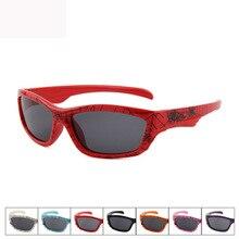 Новая мода мультфильм Открытый очки паук шаблон дорога многоцветные полный силиконовые солнцезащитные очки детские спортивные поляризационные