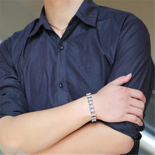 1 PC Stainless Steel Mens Bracelet Chain Shape Gear Silver Vacuum Plating Hip Hop Fashion Jewelry