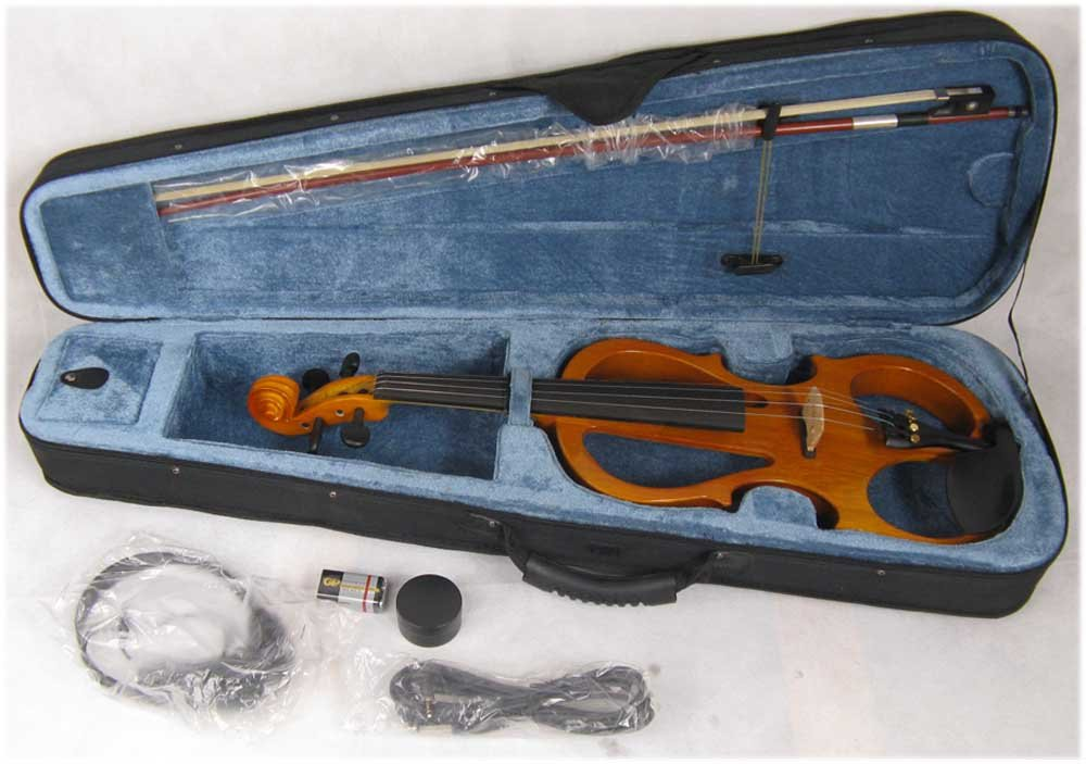 yellow  4/4 High quality  Electric violin 5# 4 4 high quality 5 string electric violin yellow 2 pickup violin