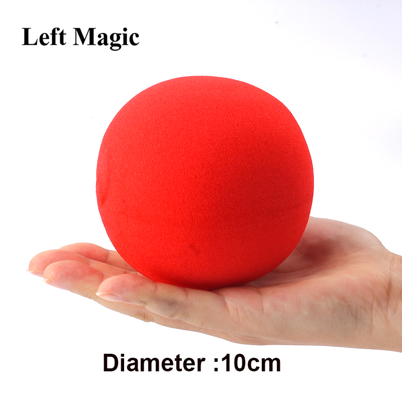 1 Pcs Big Red Magic Sponge Ball (10cm Diameter) Magic Tricks Soft Ball Excellent Elasticity Classic Ball Street Close Up Magic