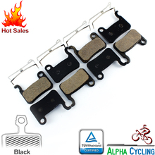 Bicycle Disc Brake Pads for Shimano Deore M596, M595, M535, Alfine S501, S500, T605, R505, M545, SLX M665, Black Resin, 4 Pairs запчасть shimano подшипник для sg s7000 s501 y36u98030
