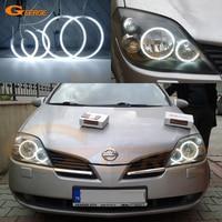 For NISSAN PRIMERA P12 2002 2008 Excellent Ultra bright illumination CCFL Angel Eyes kit Halo Rings