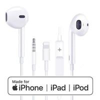3.5mm Jack Earphone Lighting Earpods Earbuds Digital Headset for Apple iPhone 5s 6 7/8 Plus X XS Max XR Microphone MFi Certified