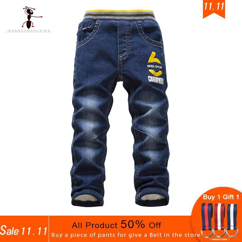 11,11 Kung Fu Ant Marke Vorverkauf Winter Plus Samt Jungen Jeans 24 Mt-8 T Warme 16 Stil Entscheidungen Babys Hosen Hosen Kaufen Geben Gürtel