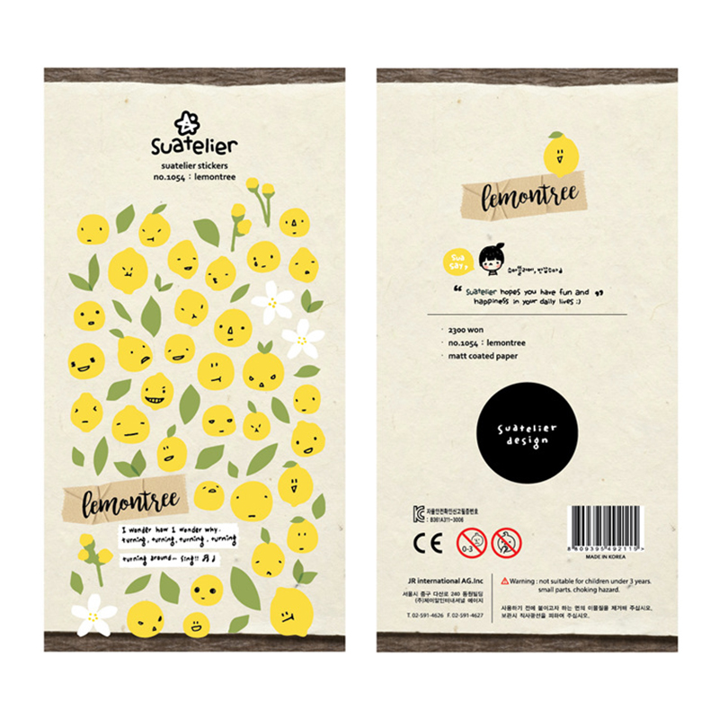 Lemontree DIY Stickers Decorative Scrapbooking Diary Album Stick Label Decor Stationery