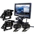 """ENVÍO LIBRE 12 V-24 V 7 """"color lcd monitor del coche de 2 canales de vídeo vista 2 sony ccd 600tvl ir cámara de visión trasera para el autobús camión de carga"""