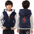 Childrens Hoodie Winter Spider Man Thicken Fleece Marvel Superheroes Coat Unisex US EU Size