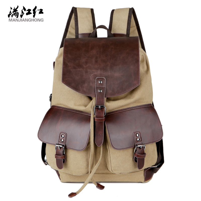 Manjianghong Fashion New Men's Backpack Men's Travel Bags Large Capacity Travel Backpack Vintage Canvas Backpack School Bag 1351 best sellers canvas backpack classic fashion women s small fresh school bag travel bags large capacity travel backpack bag
