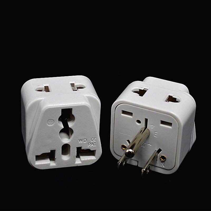 3pin Flat Plug Adapter European To American Usa Taiwan