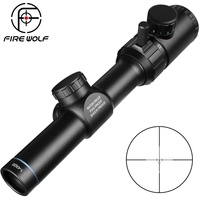 1 4x20 Rifle Scope Green Red Illuminated Riflescope Range Finder Reticle Caza Rifle Scope Air Rifle Optical Sight Hunting