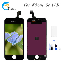 20PCS Lot Factory Prices Touch Screen Digitizer Assembly Replacement For IPhone 5C LCD Free Shipping Black