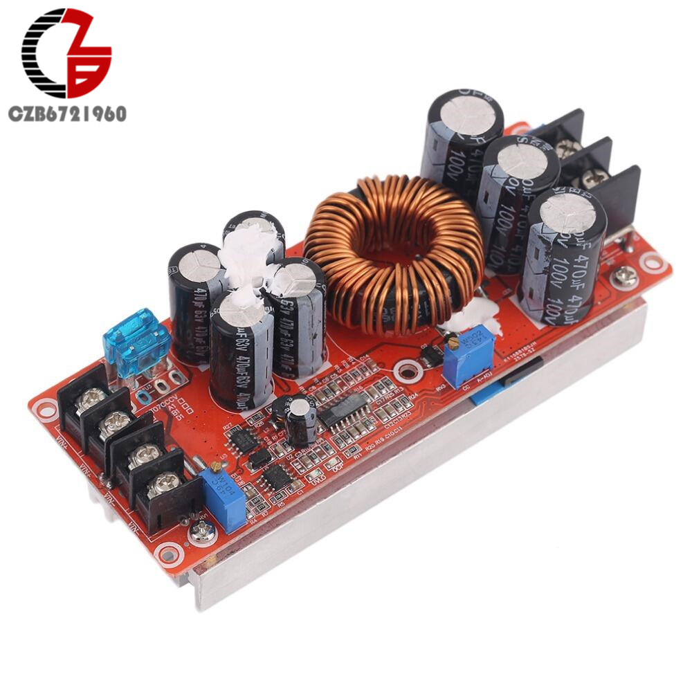 Professional 1200W DC-DC Boost Converter Power Supply 8-60V 12V Step Up to 12-83V 24V 48 with Large Heat Sink DesignProfessional 1200W DC-DC Boost Converter Power Supply 8-60V 12V Step Up to 12-83V 24V 48 with Large Heat Sink Design