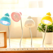 Fashion Cute Mini Table Led Clip On Adjustable Book Night Bright Reading Light Lamp 4 Colors(China)