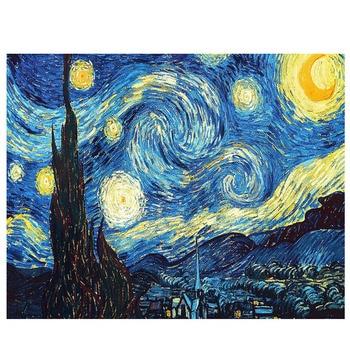 Набор для вышивки крестом Ван Гог, звездная ночь, сделай сам, 5D, алмазная вышивка, абстрактная живопись, смола, алмазная живопись, мозаика, хо...