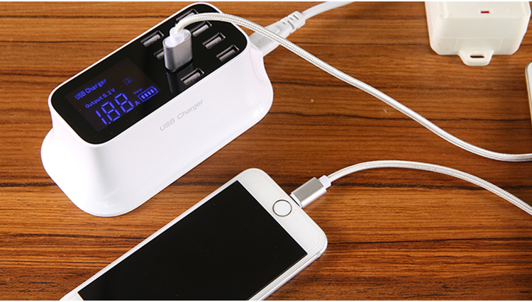 Universal 8 Ports Smart USB Charger Station Hub Led Display charger (24)