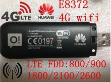 Desbloqueado huawei e8372 150 mbps módem 4g wifi módem router wifi 4g lte, pk e355 huawei e8278 w800 w800z e5776 e589