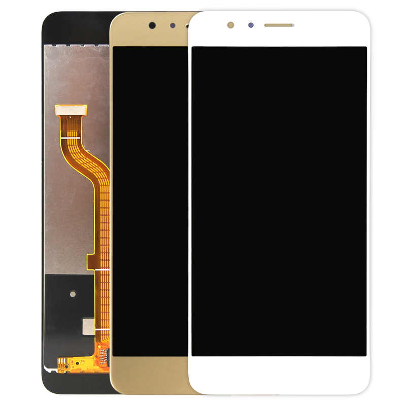 10pcs 100 Grade AAA Quality Phone Replacement For Huawei Honor 8 LCD Screen Assembly Lens With