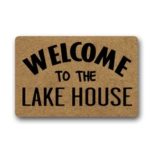 Entrance door Floor Mat welcome to lake houseEntrance Anti-Slip Doormat Bedroom Rugs Decorative Stair Mats Home