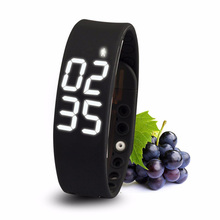 3D LED Display Sport Smart Bracelet Fitness Tracker Smart Band Wristband W2 with Pedometer Calories Health Band for Android IOS