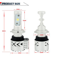 72W 12000LM 6500K 2pcs H7 With LED Car Headlight Conversion Kit Lamp Bulb Drop Shipping P30