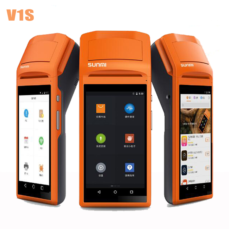 Pegang tangan Tanpa Wayar Bluetooth Wireless Touch Screen Printer usb SIM Headphone Android WIFI GPRS Moblile POS Terminal System