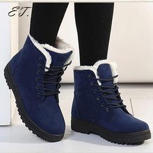 Woman short boots 2017 new arrival winter boots warm snow boots fashion platform ankle boots unisex  shoes