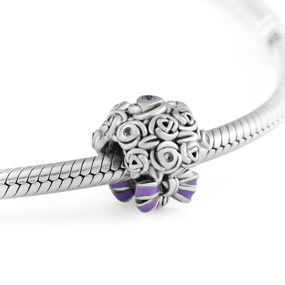 Fits for Pandora Charms Bracelets Celebration Bouquet Beads 100% 925 Sterling Silver Jewelry Free Shipping