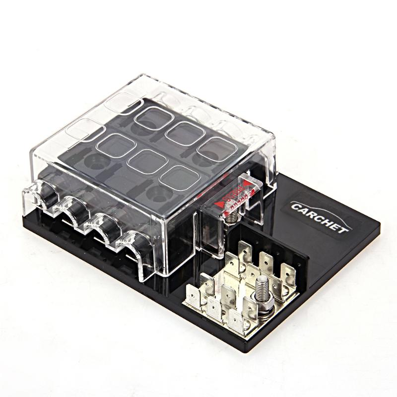 carchet car fuses box 12v 8 way block holder circuit fuse box with rh aliexpress com