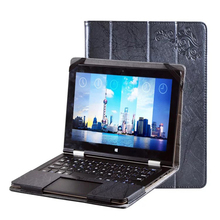 DHL/EMS Free Luxury Folio Stand Flower Printing Pattern PU Leather Keyboard Case Cover For Voyo VBook V1 10.1 inch Tablet