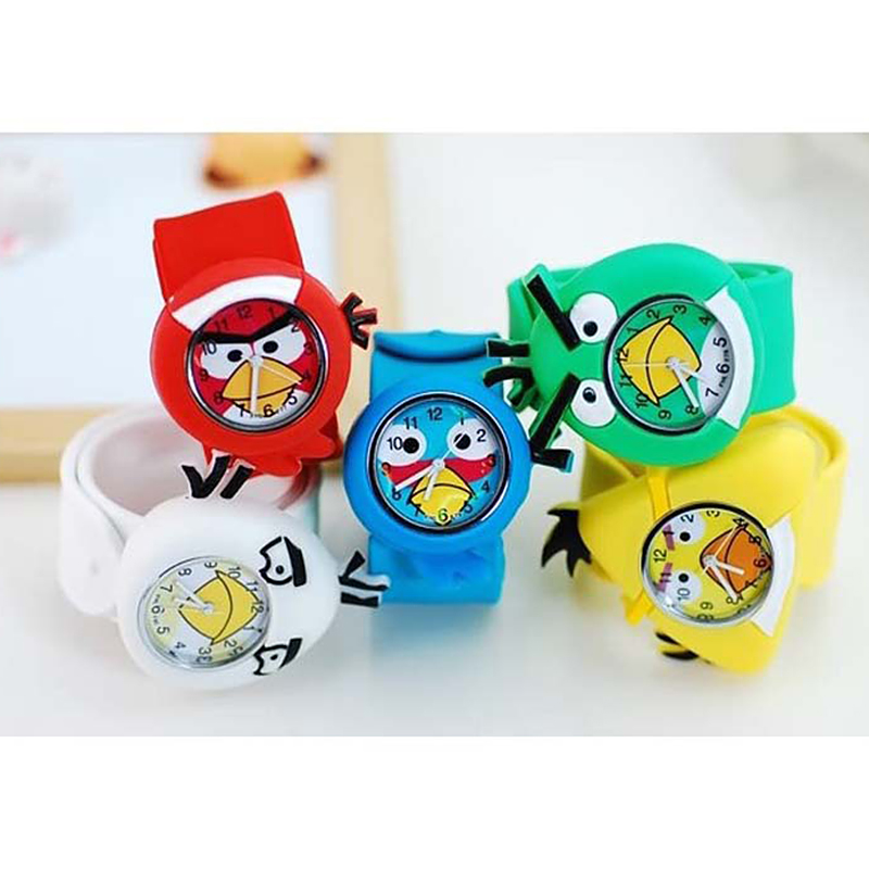 Cartoon Animal Kid Watches 3D Casual Quartz Wristwatch Silicone Strap Slap Watch Children Sports Watch Cute Baby Clock Gift 2017 3d eye despicable me minion cartoon watch precious milk dad cute children clock baby kid quartz wrist watches for girls boys