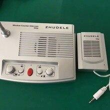 ZHUDELE роскошный высококачественный оконный домофон, запись аудио Микрофон для ресторана, спины, больницы и т. д