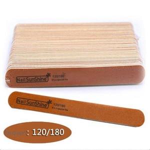 Image 4 - 200 pcs  Strong Thick Wood Nail Files 180/240 120/180 240/320 100/150 Lima Buffer Manicure  Wood Sanding Nails Files