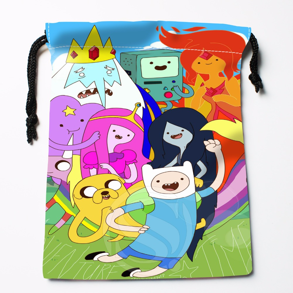 Fl-Q140 New Adventure Time &1 Custom Printed  Receive Bag  Bag Compression Type Drawstring Bags Size 18X22cm 711-#Fl140