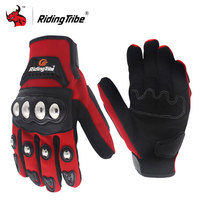 Riding Tribe Motorcycle Gloves Stainless Steel Shell Touch Screen Riding Motorbike Gloves Guantes Moto Luvas Gants