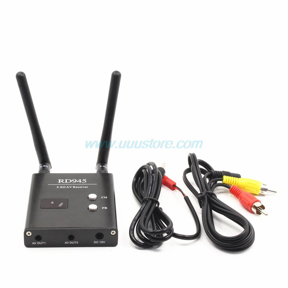 UUUSTORE FPV 5.8 GHz 48CH RD945 Diversity Receiver With A/V and Power Cables ...