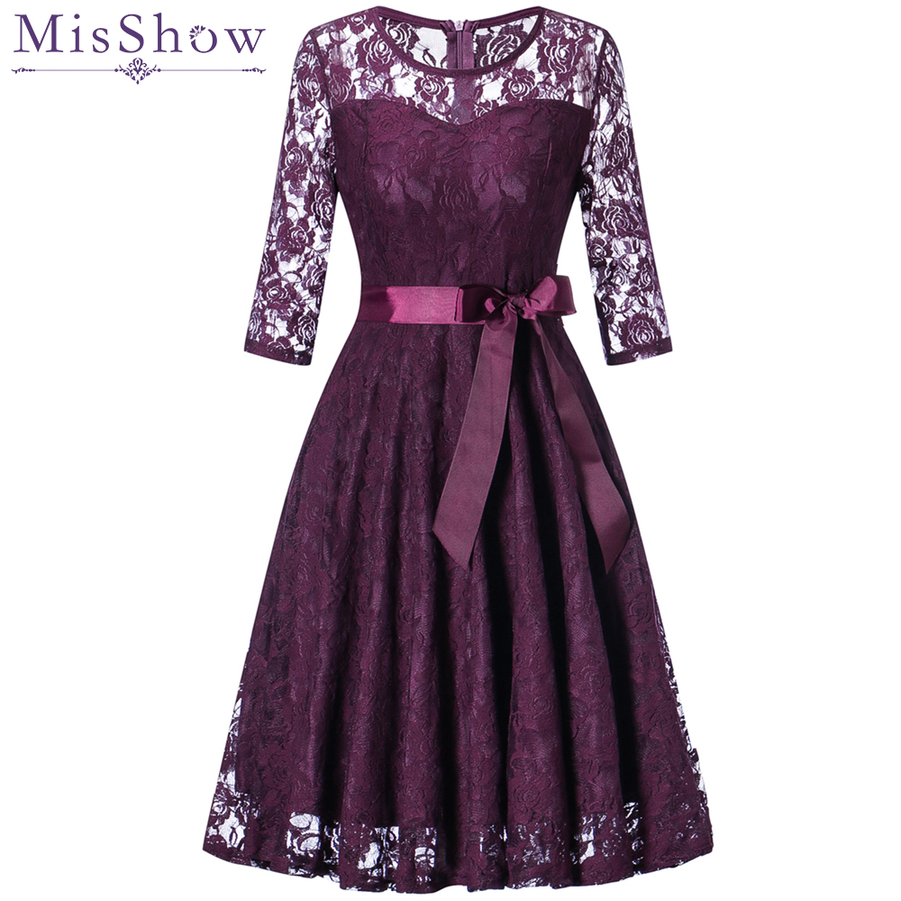 Elegant Cocktail Dresses With Sash A-Line Hollow Out lace Summer Women 2019 Short Vestidos Sexy Women Formal Cocktail Dresses