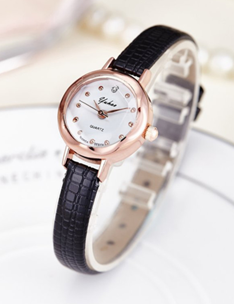 2016 Fashion Women Watches Luxury Brand Rose gold Leather Strap Quartz Watch For Women Casual Dress Watch Hours Female Clock high quality gold bracelet watches women luxury brand leather strap quartz watch for women dress wristwatches female clock ac183
