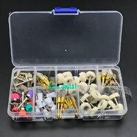 80pcs Dental Prophy Polishing Brush Cup Alumina Nylon Cotton Wool Felt Wheel